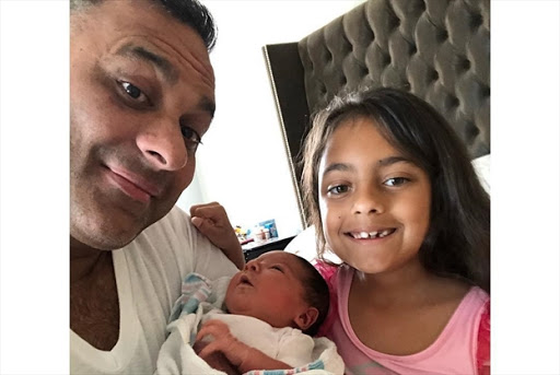Image of Russell Peters and Monica Diaz's daughter, Crystianna Marie Peters.