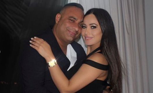 Photo of Russell Peters and his ex-girlfriend, Jennifer Andrade.