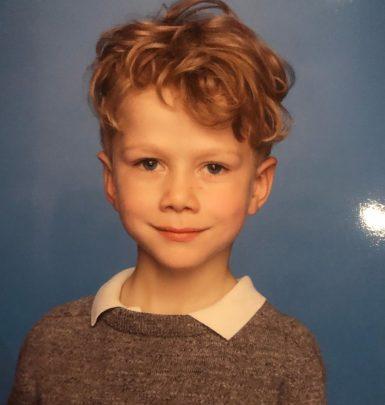 Photo of Jim Gaffigan's youngest children, Michael Gaffigan.
