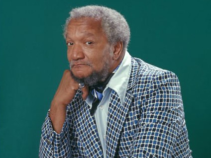 Photo of American stand-up comedian, Redd Foxx.