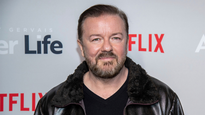 Image of British TV personality and comedian, Ricky Gervais.