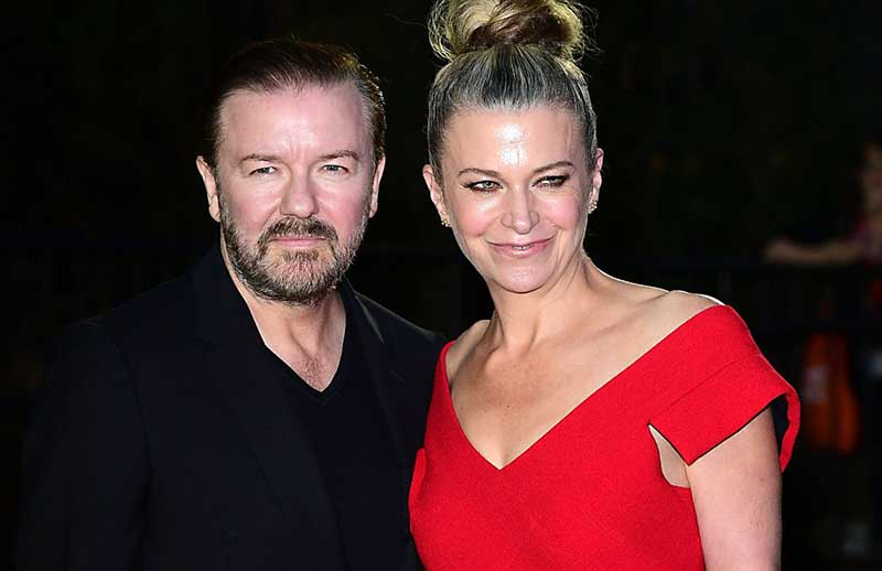 Photo of Ricky Gervais and his wife, Jane Fallon.