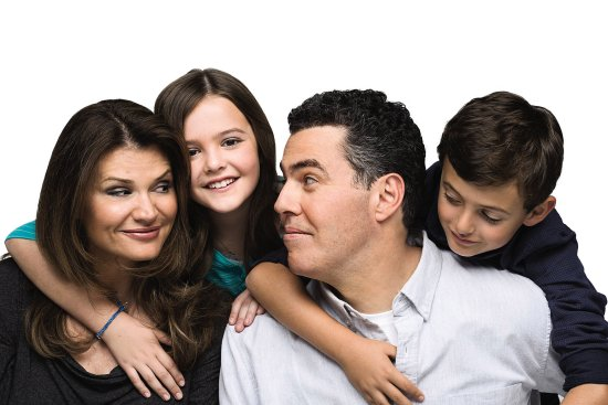 Image of Adam Carolla with his family
