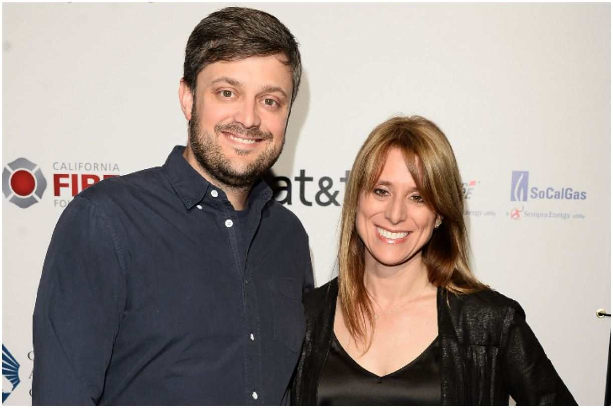Image of American comedian, Nate Bargatze with his wife
