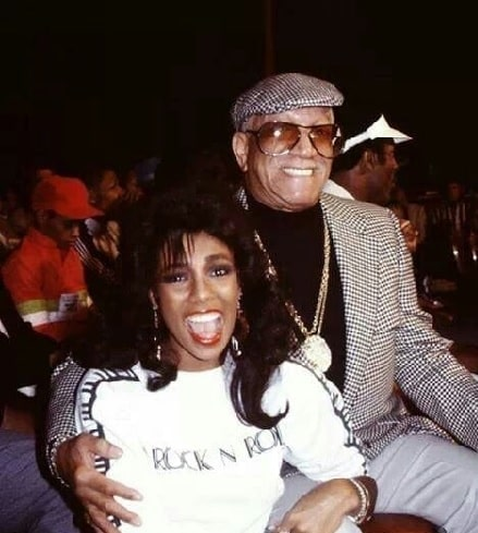 Image of famous comedian, Redd Foxx and his daughter Debraca Denise